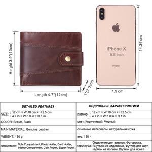 Image 2 - MISFITS cowhide men short wallet brand fashion purse with coin pocket 100% genuine leather credit card holder money bag for male