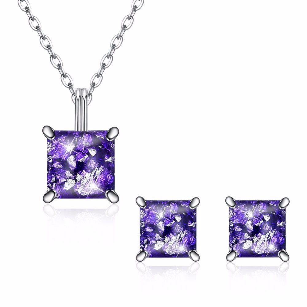 Crown Square Pendant Necklace Natural Teardrop Amethyst 925 Sterling Silver Jewelry Rose Gold Color s925 Charm Chain Necklace Crown Square Pendant Necklace Natural Teardrop Amethyst 925 Sterling Silver Jewelry Rose Gold Color s925 Charm Chain Necklace