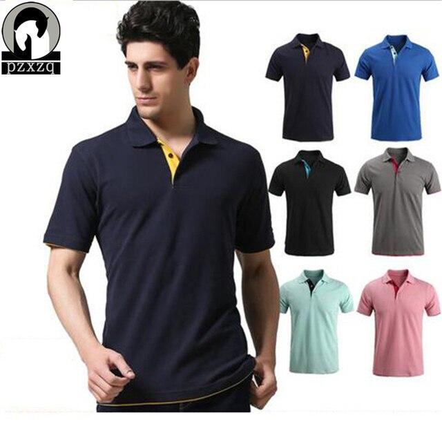 Высокое Качество Летом стиль большой размер марка camisa polo мужчины хлопок polo shirt плюс размер XXXL коротким рукавом классические твердые тонкий топы
