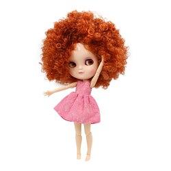 ICY DBS DOLL małe piersi azone ciało fortune days Tangerine wild-curl up hair 30cm 1/6 toy