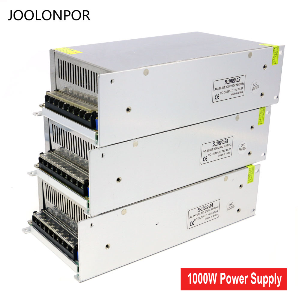 Lighting Transformers Ac 220V to Dc Constant Voltage 12V 24V 48V Full Power 1000W Transformer Power