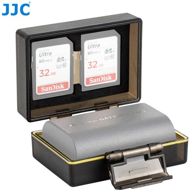 JJC Camera Battery Holder Case Bag for Canon LP E6 LP E6N LP E17 Sony NP FW50 Fujifilm NP W126 Case SD MSD TF Card Storage Box