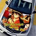 Настраиваемые HD One Piece Худ Этикета Капот Автомобиля Граффити Наклейки Луффи Графика Отличительные Знаки Двигателя Крышка Камуфляж Защитная Пленка
