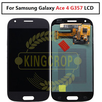 SUPER AMOLED LCD for Samsung Galaxy Ace 4 SM G357 G357 G357FZ Ace4 LCD Display with Touch Screen Digitizer Assembly White/Grey