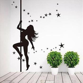 Полюс солнце леди сексуальные горячие девушки бикини tease стены Стикеры наклейки для домашнего декора модного дизайна из серии