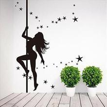 Pole sunshine lady Sexy hot girl bikini tease Wall Sticker Home Decor Decals fashion design DIY