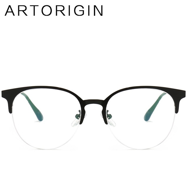 7d5ef20d67a Half Frame Glasses Frame for Women Clear Glasses Half Rim Wine Red Pink  Ladies Eyeglasses Prescription Myopia Frames Eyewear