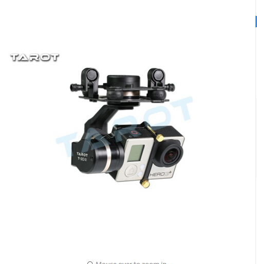 F17391 Tarot TL3T01 Update from T4-3D 3D Metal 3-axle Brushless Gimbal for GOPRO GOPRO4/GOpro3+/Gopro3 FPV Photography tarot tl3t01 update from t4 3d 3d metal 3 axis brushless gimbal for gopro 4 3 for gopro3 fpv photography f17391