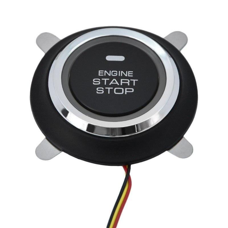 Auto voiture un démarrage arrêt moteur système avec télécommande voiture PKE système d'entrée sans clé démarrage bouton d'arrêt pour 12 V SUV RFID lock - 4