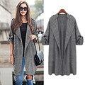 large Plus size 5XL Womens Open Front Trench Coat Long Cloak Overcoat Waterfall Cardigan Long Women Basic Coat