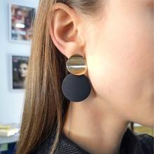 Модные серьги без пирсинга, золотые, черные, металлические круглые клипсы для ушей, для женщин, Bijoux Brincos, вечерние, подарок