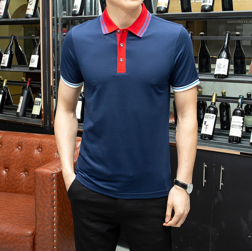HAYBLST Brand Striped   Polo   Shirt Men 2019 Summer Cotton Men's Clothing Casual solid Breathable Business Tops Tee   polo   hombre