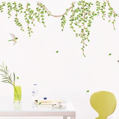 Large 100*180cm Green Tree Home Decal Wall Sticker Birds Living Room Decoration Modern Wall Decor Kids Room 3D Wall Art Mural
