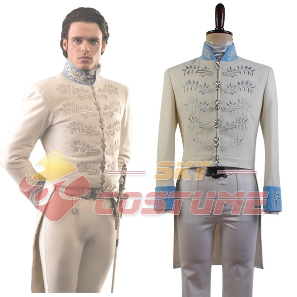 Cinderella 2015 Hot Movie Prince Charming Kit Cosplay Costume Uniform Outfit Adult Men Full Set Halloween Carnival