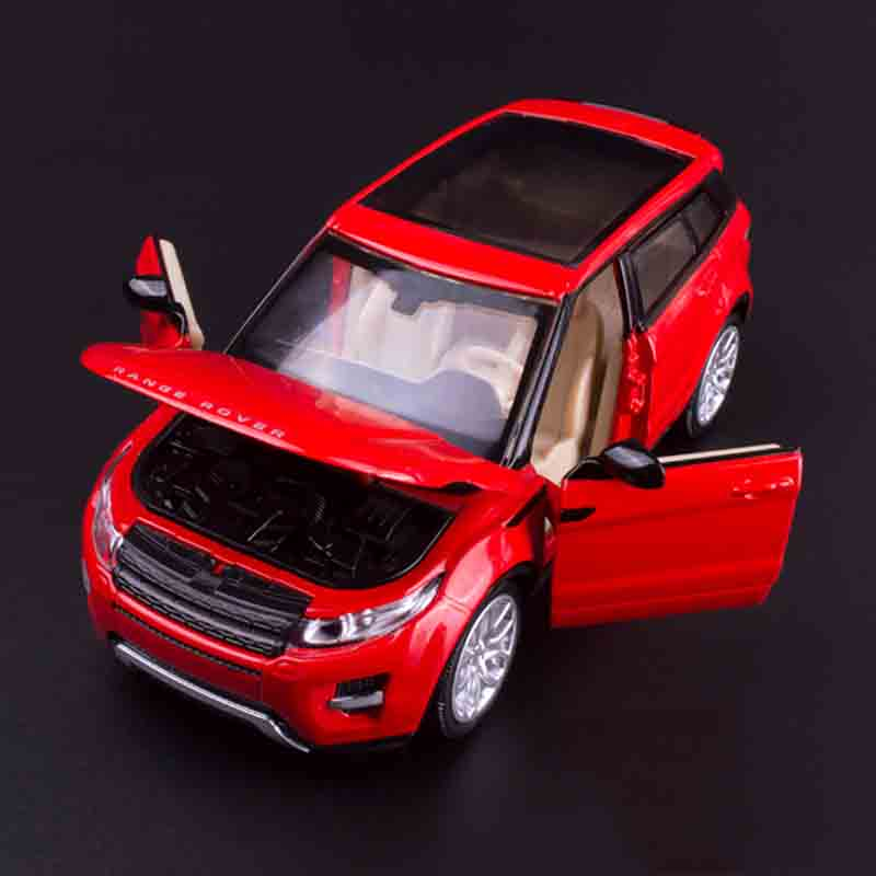 CAIPO 1:32 simulation Racing car Mini for Land Rover Aurora Range Rover SUV Die-cast metal Alloy car model kids toys Gift Packa