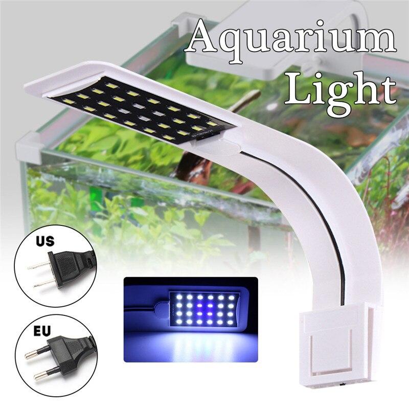 10 watt 24 LED Highlight 5730SMD Super Slim Aquarium Lampe Aquarium Clip Licht Pflanzen Wachsen Licht AC110V UNS STECKER /AC220V EU STECKER