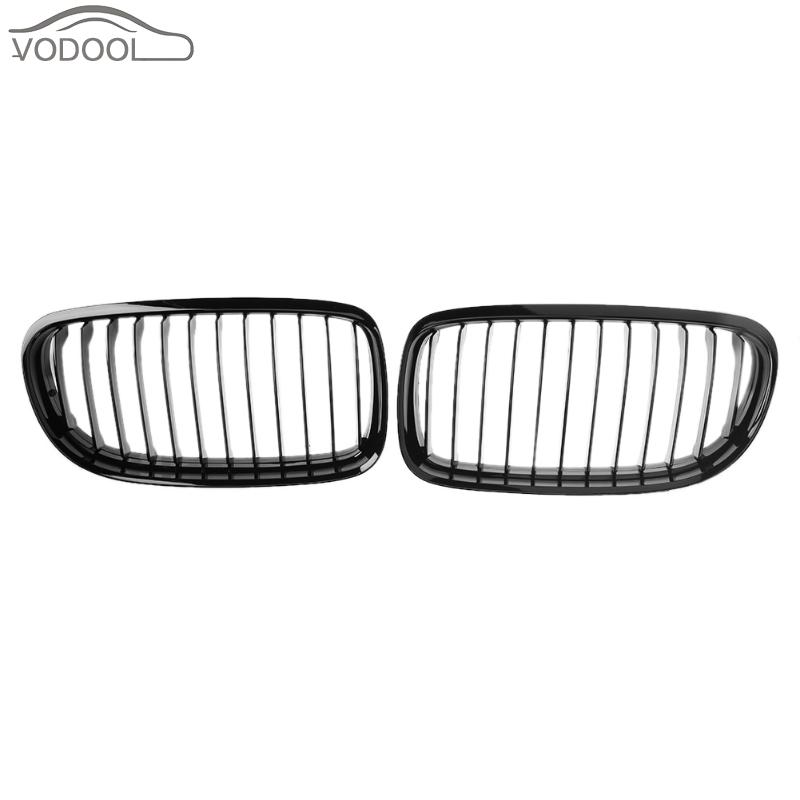 VODOOL 1 Pair Gloss Black Car Racing Grills Automobile Front Bumper Kidney Grilles for BMW E90 E91 2008-2011 Auto Accessories sugeryy 1 pair car style matte black 3 color front center kidney racing grilles for bmw 3 series e90 e91 2009 2011 car grille