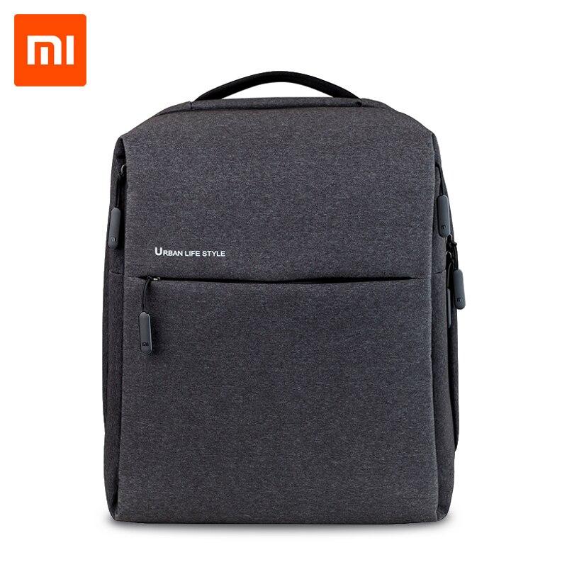 Original XiaomI Mi Rucksack Städtischen Lebens Stil Schultern Tasche Rucksack Daypack Schule Tasche Seesack Passt 14 zoll Laptop tragbare