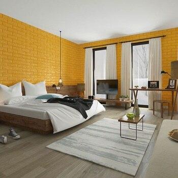 60x60 cm PE Foam 3D Wall Stickers Home Improvement Rental housing necessary Wall Decoration Wall Brick Wall Living Room 6