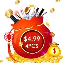 Набор из 4 предметов для макияжа, набор для продажи, набор инструментов для макияжа, высокое качество, тени для век, лицевые губы, ногти, посылка для макияжа