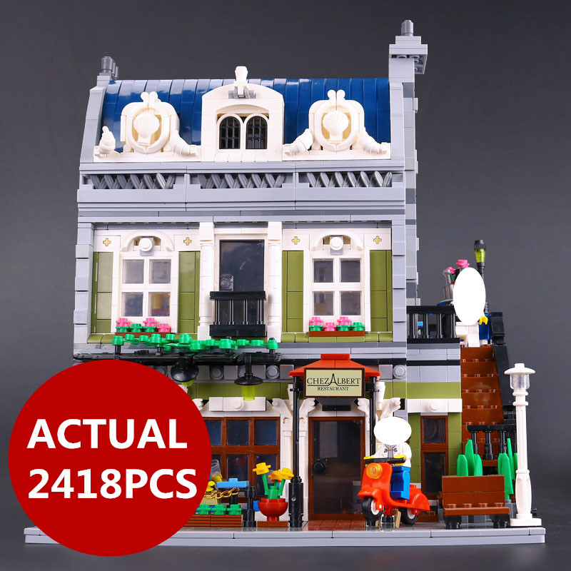 Lepin 15010 Expert City Street Parisian Restaurant Model Building Kits Blocks Children Toys Compatible With 10243 birthday gift compatible lepin city mini street view building blocks chinatown satin silk store with saleman figures toys for children gift