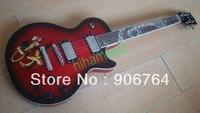 Serpent incrustation peinture rouge noir sunburst LP standard guitare Électrique 2 humbucker micros livraison gratuite chrome matériel jade tulipe