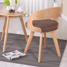 Modern Fabric Solid Wood Rotating Dining Chair Leisure Coffee Shop Restaurant Home Study Bedroom Office Meeting Computer Chair creative household coffee chair modern design solid wood dining chair leisure modern simple backrest chair