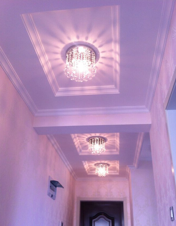 E14 Ceiling Lamp Crystal Living Room Foyer Light Home Lights Lustre ...