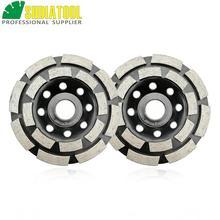 цена на 2pcs Diamond  double row Grinding Cup Wheel, diamter 4/100mm bore 16mm for concrete, brick grinding