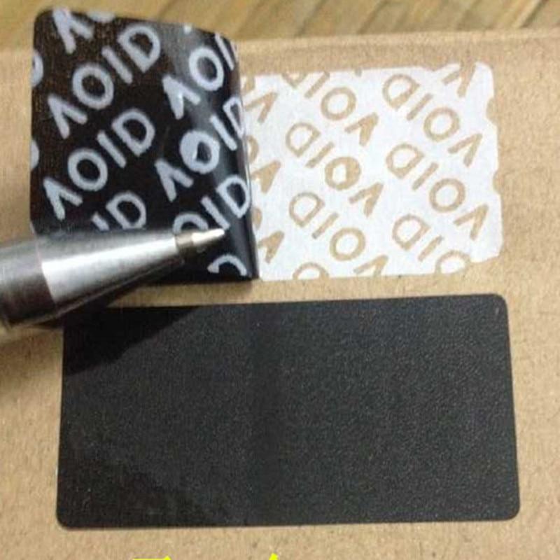 Оптовая продажа, черные пустые наклейки 40*20 мм, пустые наклейки для герметизации, наклейки s fsecurity, этикетки для печати, противоподдельные эт...