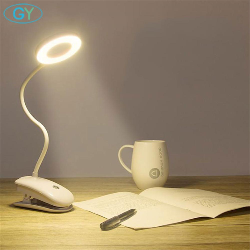 Usb led buch licht, touch dimmbare led-leselampe, schwanenhals flexible led clip lampe für lesen, luminaria de mesa usb licht