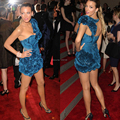 2014 Red Carpet Dress for Special Occasion Formal Dress Sexy One Shoulder Royal Blue  Short Celebrity Dresses