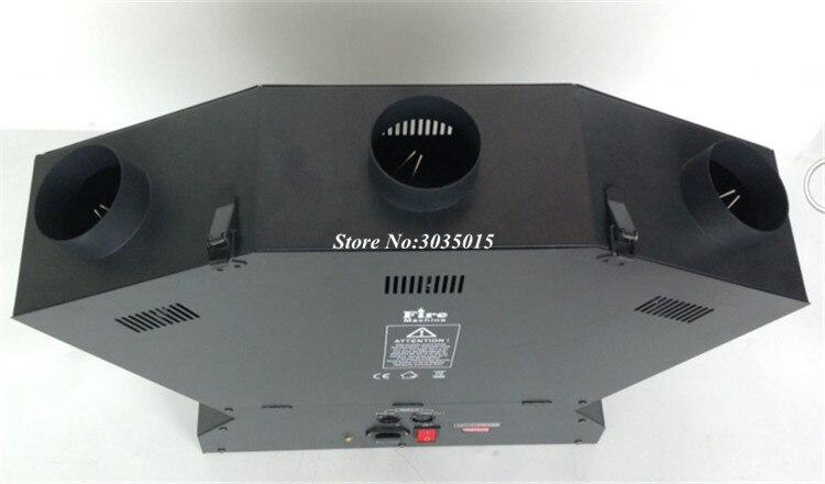 3 cabeça fogo machinedx máquina dmx 512