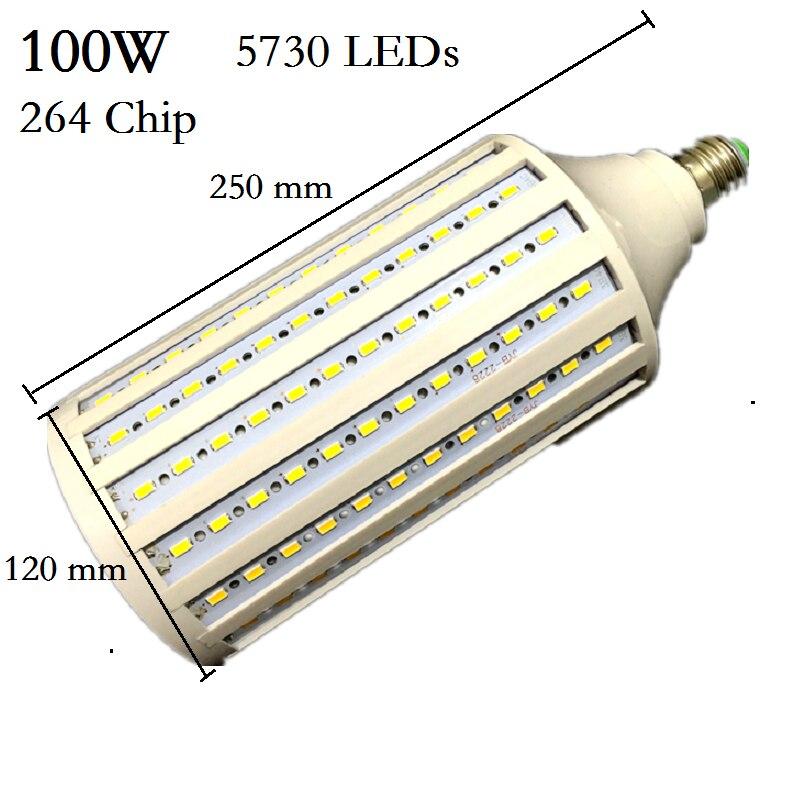 Super Bright 5730 50W 60W 80W 100W LED Lamp E27 B22 E40 E26 85-265V Corn Bulbs Pendant Lighting Chandelier Ceiling Spot light