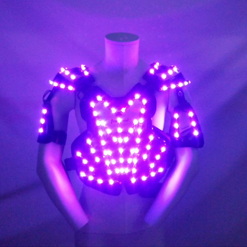 New Led Lighting Luminous RGB Colorful Ballroom Costume Dance Wear Stage Performance Clothes For Party KTV Nightclub Show