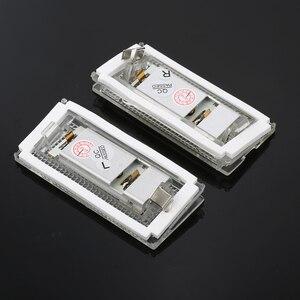 Image 3 - 2 חתיכות Led לוחית רישוי אור Led Canbus אוטומטי זנב אור לבן LED נורות עבור BMW 3er E46 4D 1998 2003 אביזרי רכב