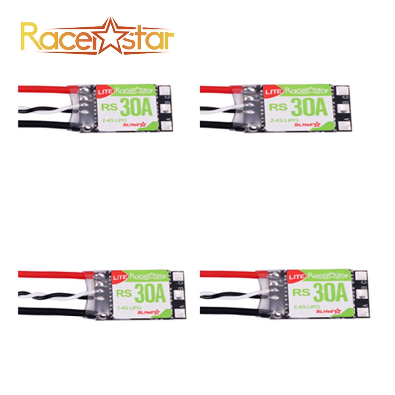 4PCS/lot Racerstar RS30A Lite 30A Blheli_S BB1 2-4S Brushless ESC For FPV Racer RC Racing Drone Quadcopter DIY Spare Parts