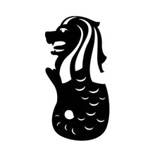 7.8X15.5CM SINGAPORE Merlion Lion Water Fountain Originality Vinyl Car Sticker Motorcycle Decal S6-2258(China)