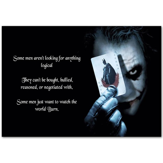 A756 batman joker hot dc superhero comic movie quotes top a4 art a756 batman joker hot dc superhero comic movie quotes top a4 art silk poster light canvas reheart Gallery