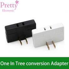 Um em três conversor de 180 graus rotação extensão plug multi plug mini fino sem fio adaptador viagem tomada luz