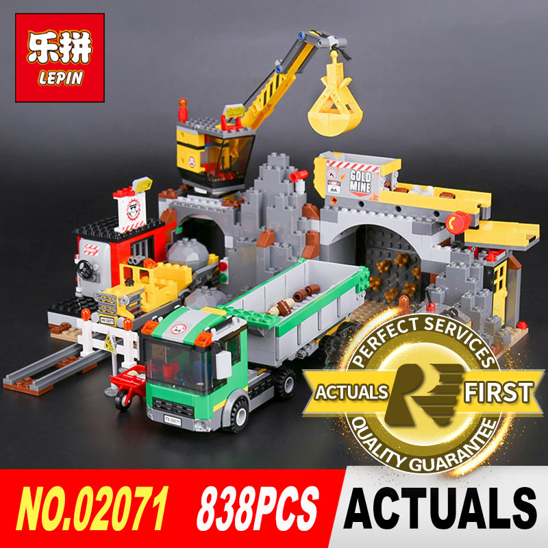 838Pcs Lepin 02071 City Series The City Mine Set Assemblage 4204 Building Blocks Bricks Educational Toys Model as Gift for boys new lepin 16008 cinderella princess castle city model building block kid educational toys for children gift compatible 71040