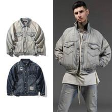 2017 Men Jeans Jacket hip-hop Jackets Streetwear Cotton Denim Slim Short Jacket Hip Hop Ripped Denim jacket Classic Hole Coat