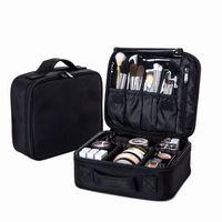 Women Professional Cosmetic Bag Large Waterproof Travel Makeup Bag Trunk Zipper Make Up Organizer Storage Pouch