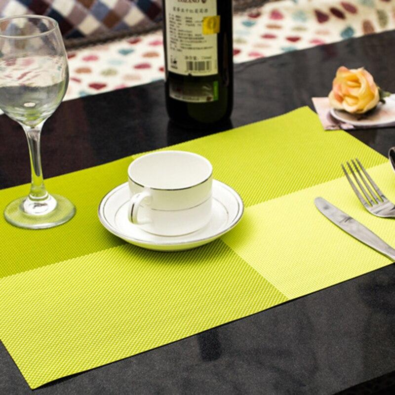 4 quadratische einfarbig esstisch tischset europa stil pvc - Küche, Essen und Bar - Foto 6