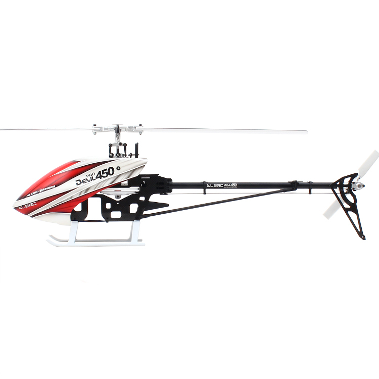 ALZRC - Devil 450 Pro V2 FBL KIT 450 RC Helicopter - Silver (Include Canopy &collocation carbon fibre 325mm paddle) alzrc devil 450 helicopter parts 450 fast fiberglass shell