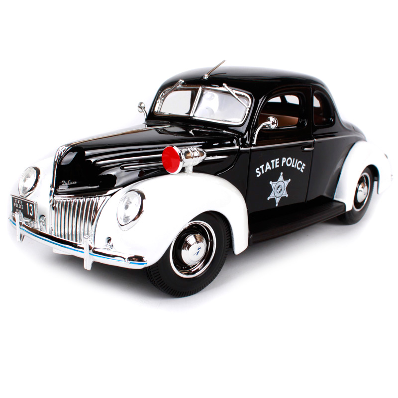 Maisto 1:18 1939 Ford Deluxe Police car Old Car model Diecast Model Car Toy New In Box Free Shipping 31366 2017 new maisto 1 18 scale metal car