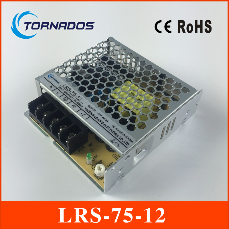 LRS-75-12 ac-dc single output 75w 12v Switching Power Supply Driver for LED Strip AC 85-264V Input to DC image