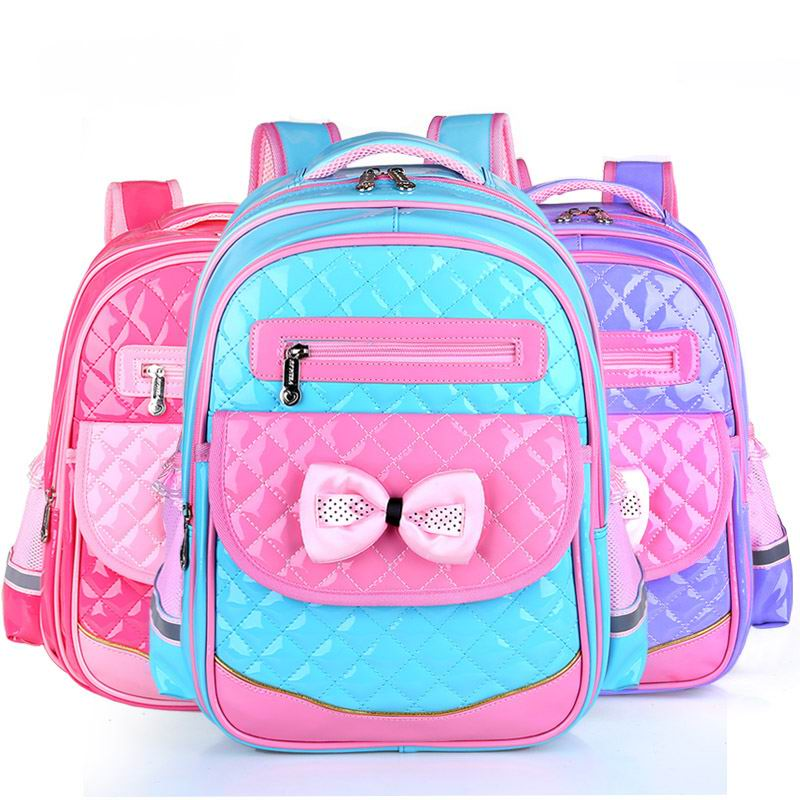 b28115d97ace 2018 New Arrival PU Leather Girls School Bag Good Quality Children School  Bags   Kids Backpack Grades 1-3-6