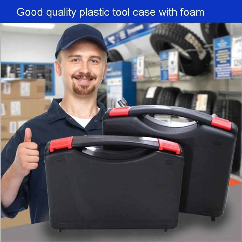 PP Tööriistakast tööriistakasti kohver Elektrooniline instrument ümbris Plastikust turvakarbi varustuskarbis toote pakend kokku 327 * 236 * 76 mm