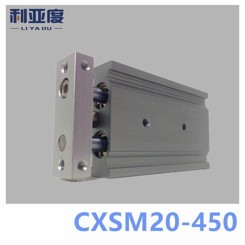 SMC type CXSM20-450 CXSM20*450 double cylinder / double shaft cylinder / double rod cylinder 20mm bore 450mm stroke 4 key tuba entry model with case bore size 20mm bell dia 450mm